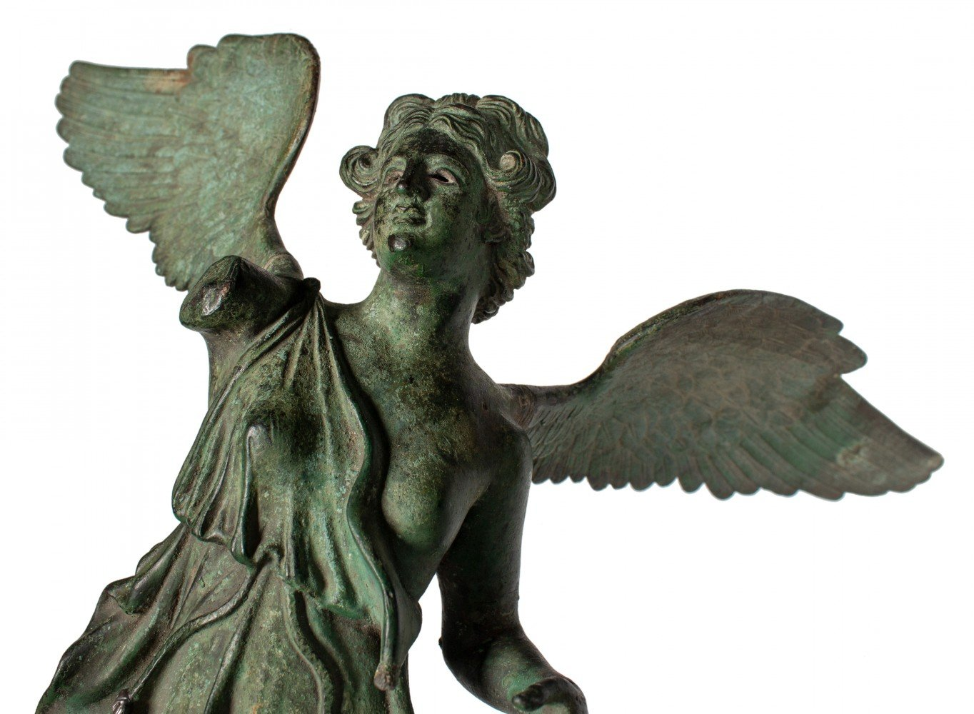Grand Tour Bronze Figure of Nike, or Winged Victory by 19th Century Italian School