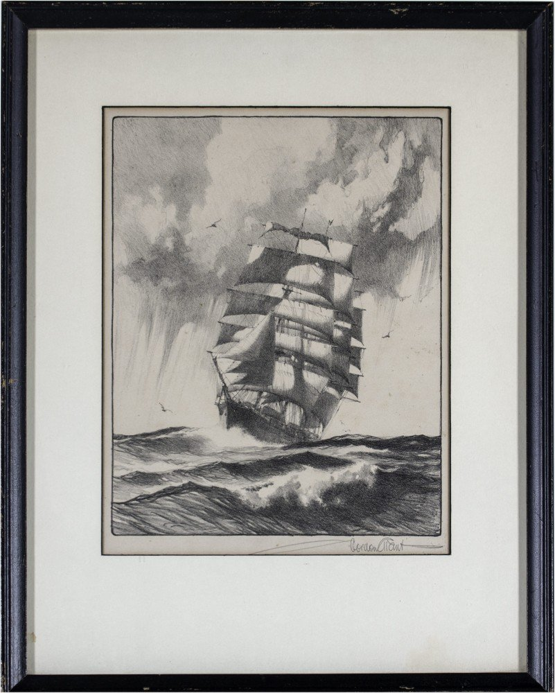 Gordon Hope Grant (American 1875-1962) Mid Ocean