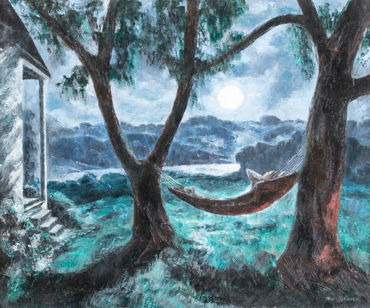 Moonlit Nap by William C. Grauer
