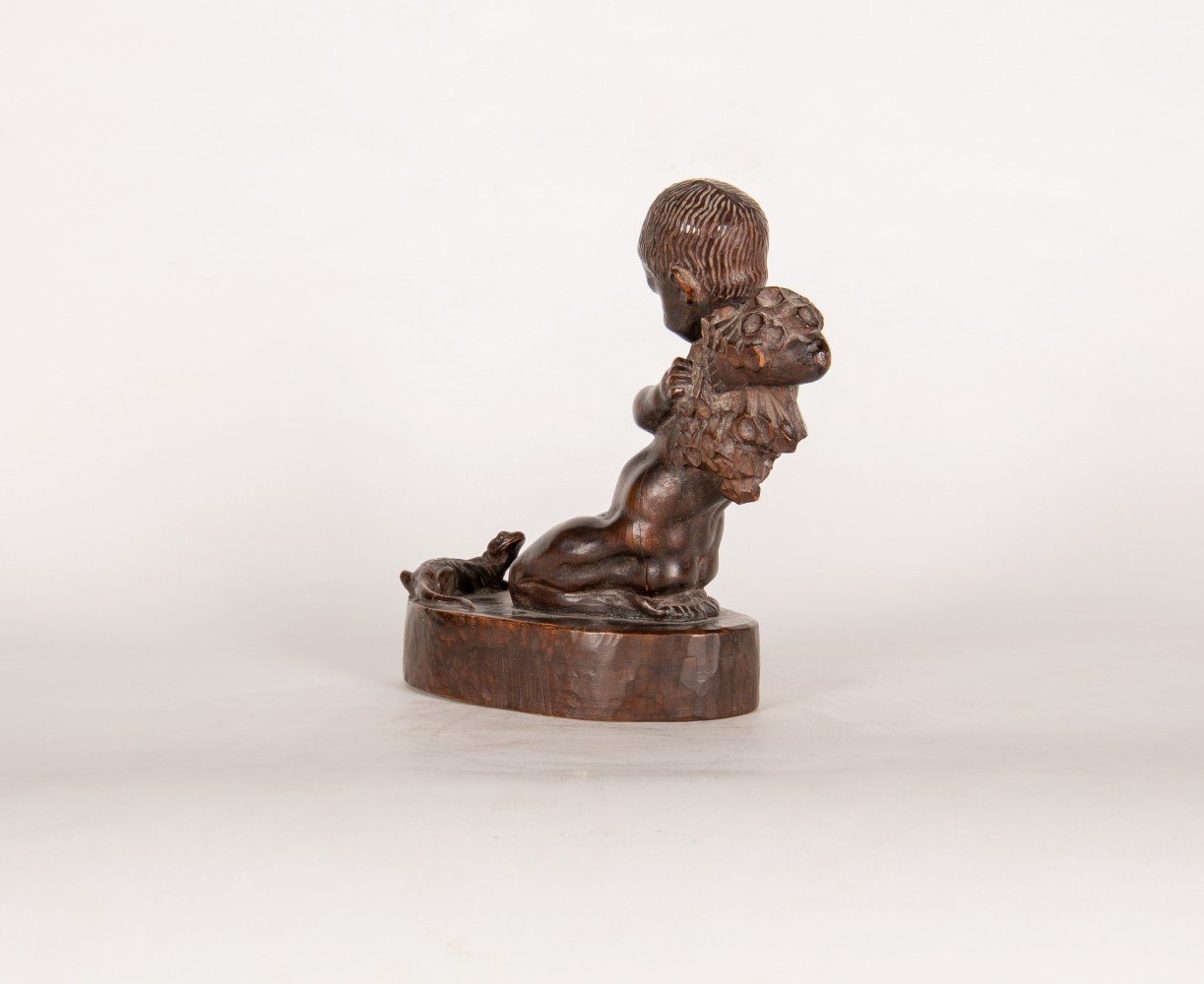 Figurative Finely carved wood Sculpture: