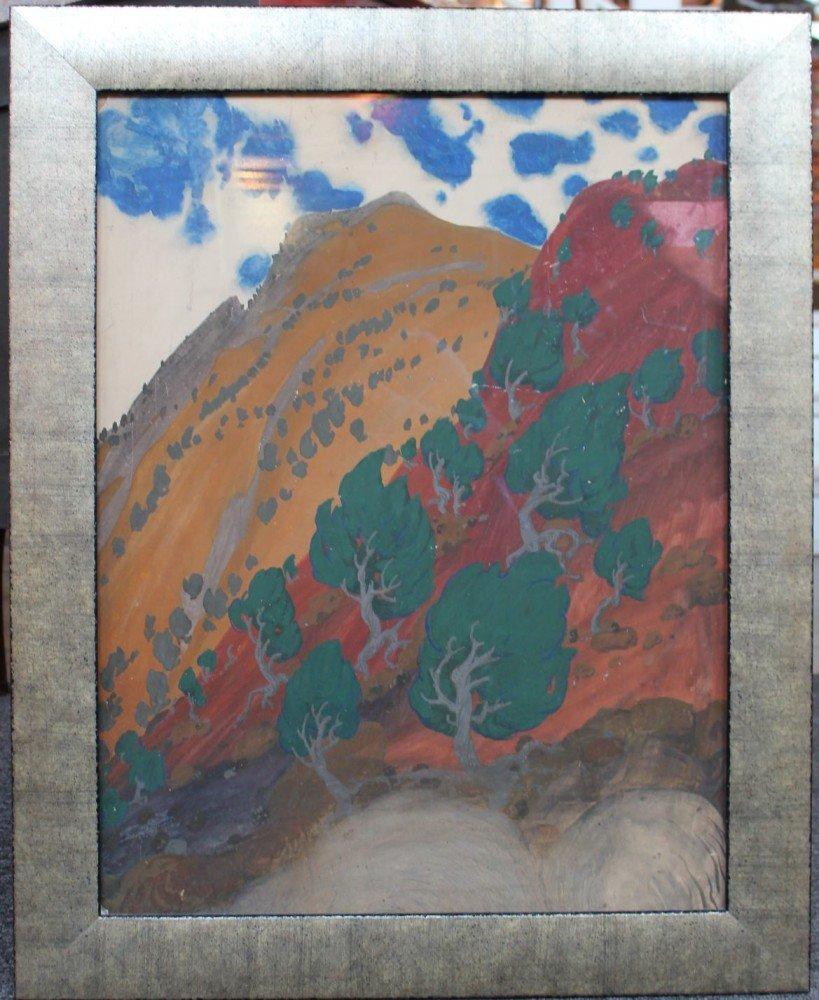 Mountain Landscape by Henry George Keller