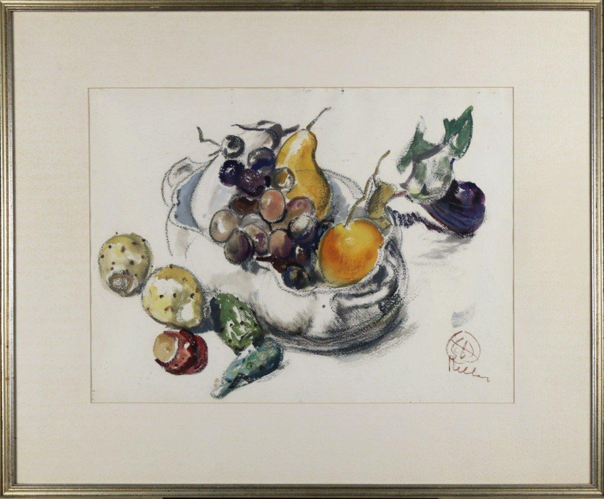 Still Life, Bowl of Fruit by Henry George Keller