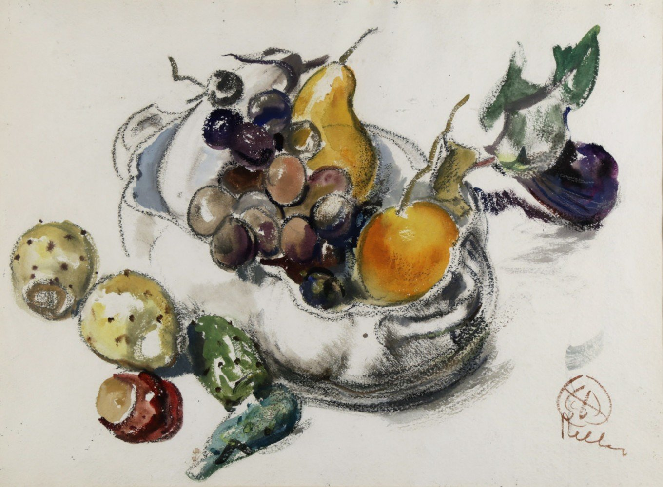 Still Life, Bowl of Fruit by Henry George Keller