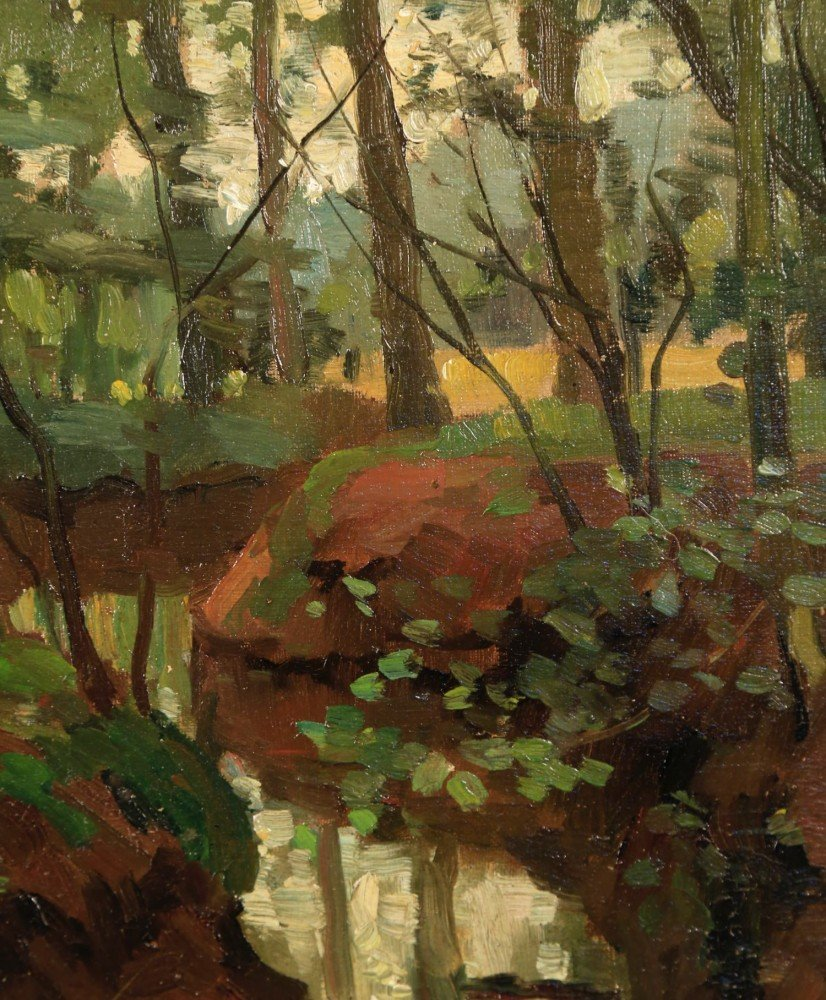 J.A.Hesterman (American, 20thc.) - Forest Interior