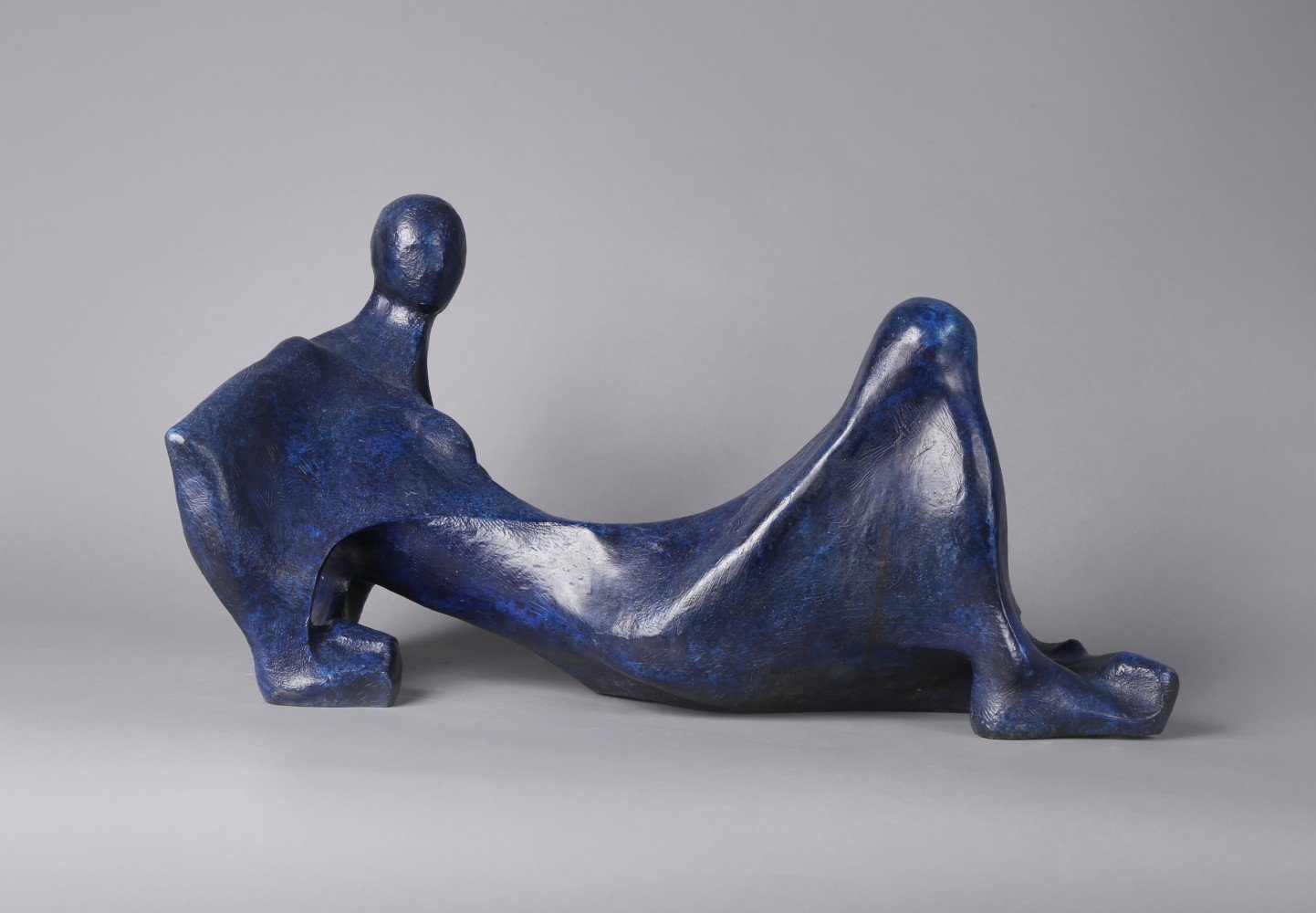 Bronze with Blue Patina Sculpture: