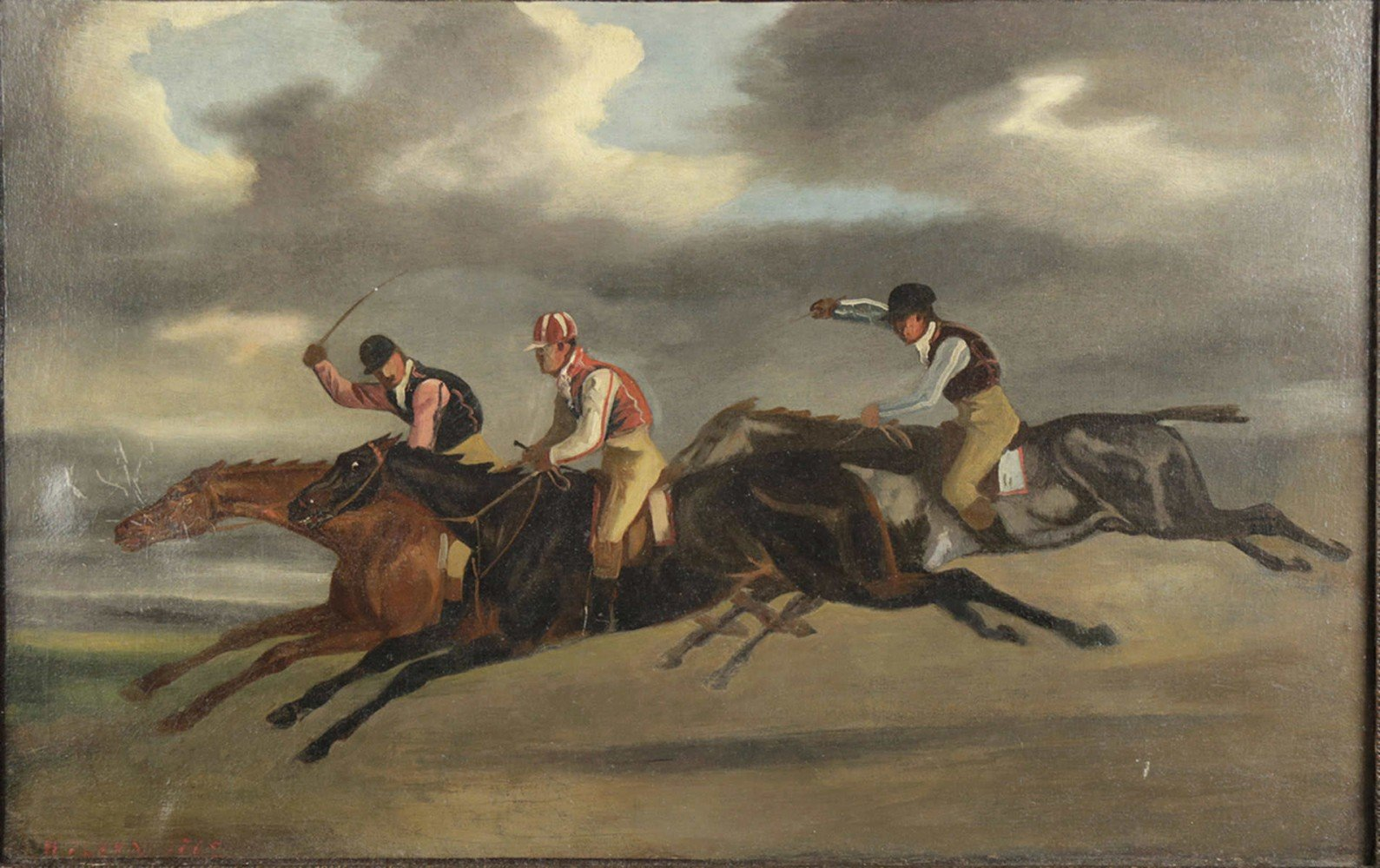 Racing Scene - Attributed to Samuel Henry Alken by Samuel Henry Alken