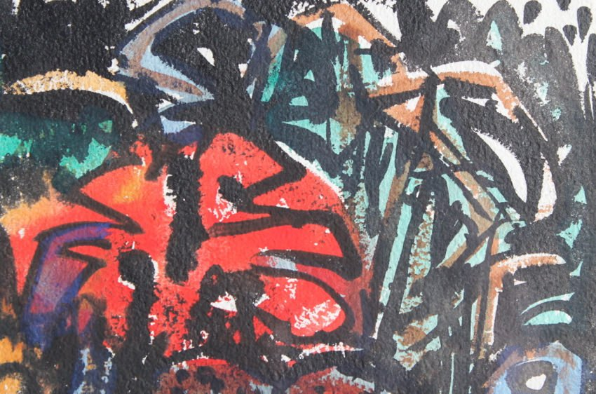 Abstract Watercolor on Paper Painting: