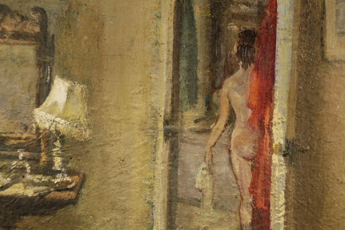 Interior Scene, In the Boudoir by 20th Century American School
