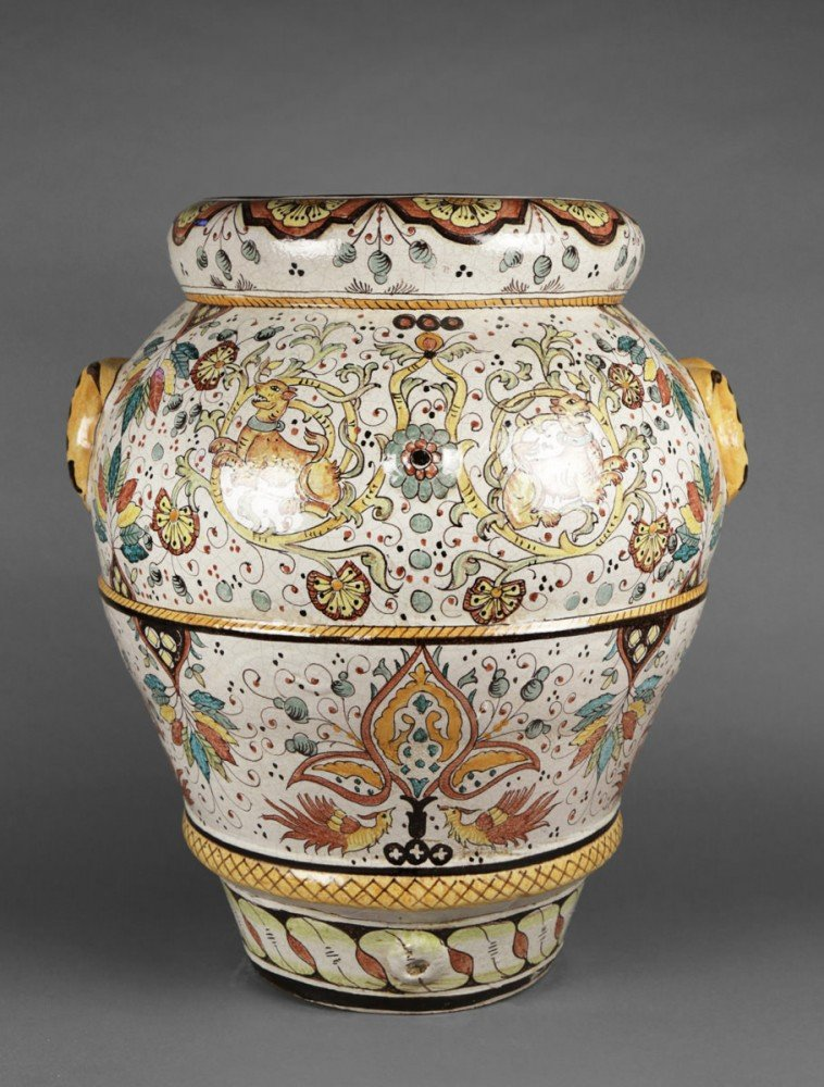 A Large Italian Majolica Urn