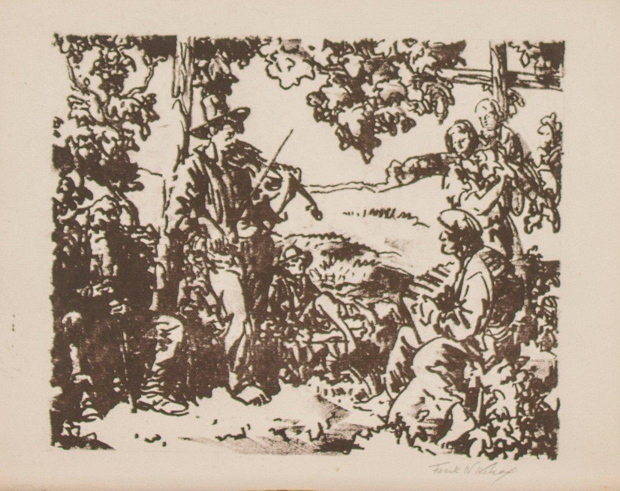 Italian Musicians/Quarrymen in Brecksville by Frank Nelson Wilcox
