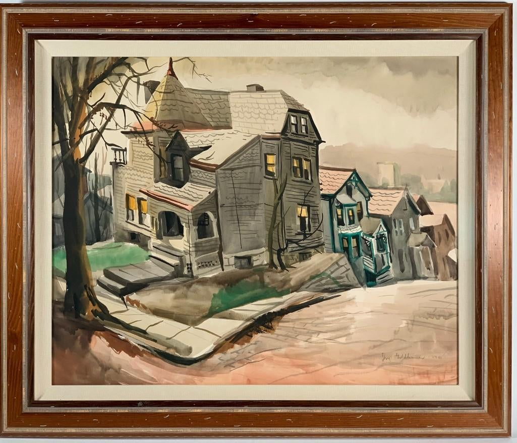 Row Houses, Pittsburgh by Iva Goldhamer Stone