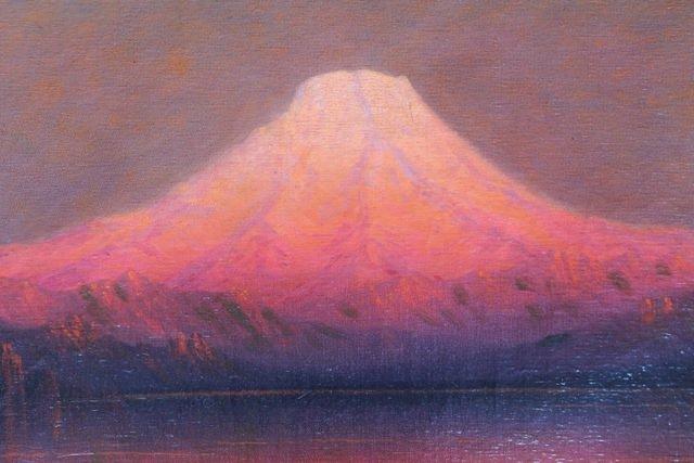 Sunset Glow, Mt. Rainier from near Tacoma, Washington by James Everett Stuart