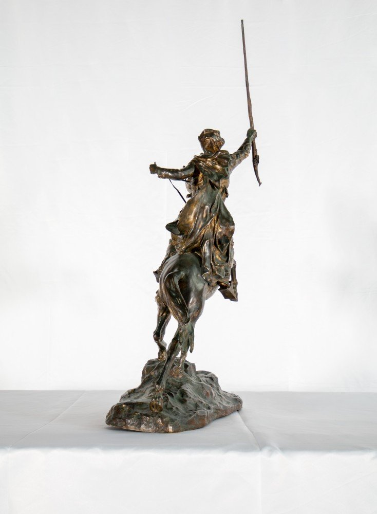 Figurative Animal Bronze Sculpture: