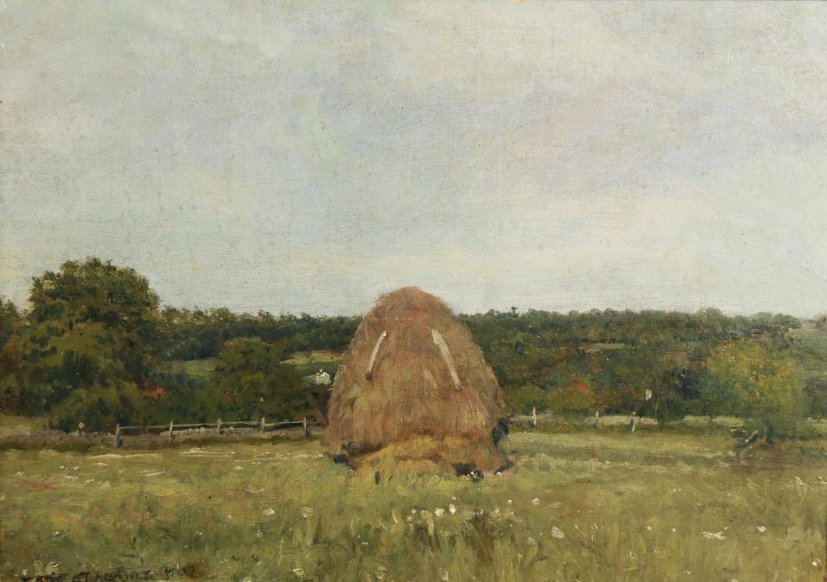 Haystack, Hyde Park, Massachusetts by Joseph Eliot Enneking