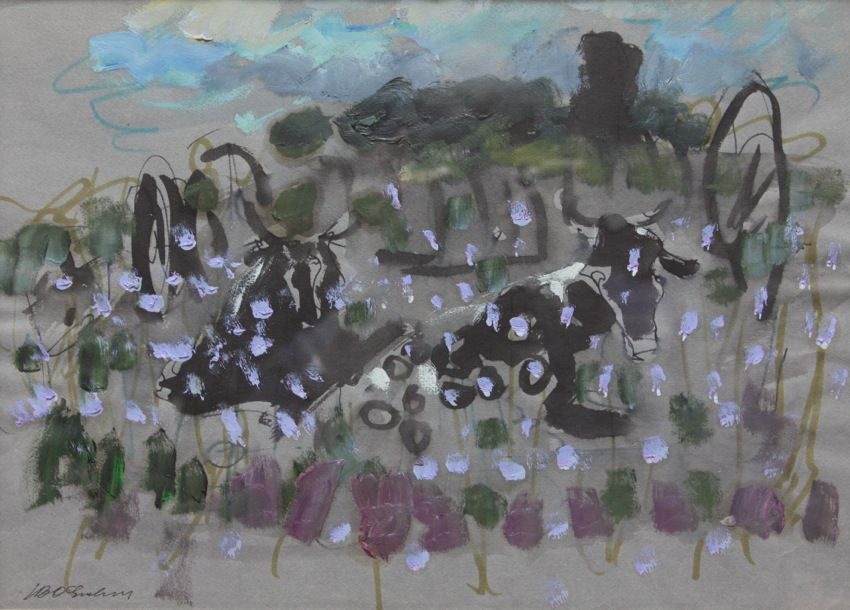 Cows at Pasture by Joseph Benjamin O'Sickey