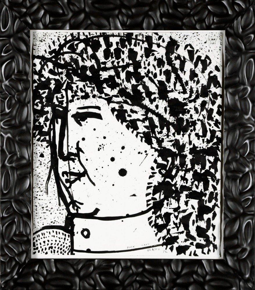 Rock Lady, Janis Joplin by Joseph Glasco