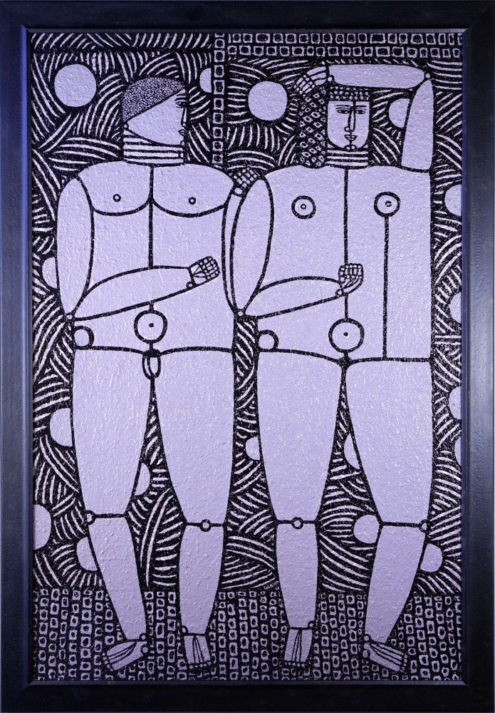 Two Figures by Joseph Glasco