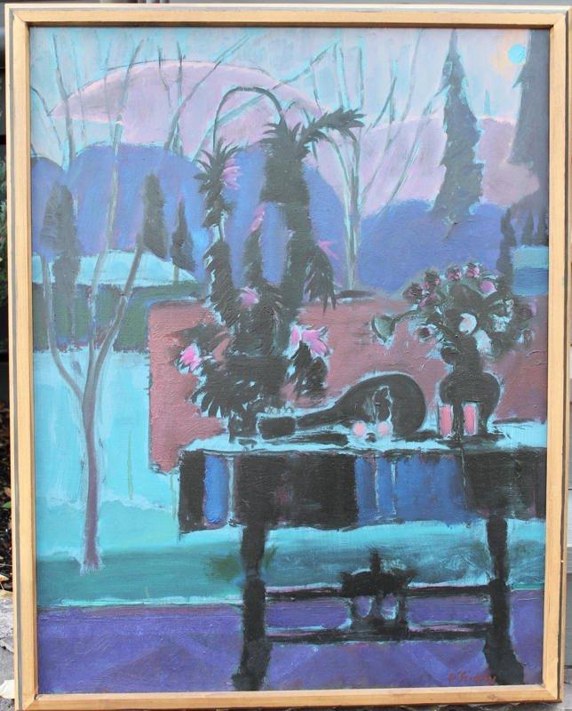 Blue Moon, Evening Scene by Joseph Benjamin O'Sickey