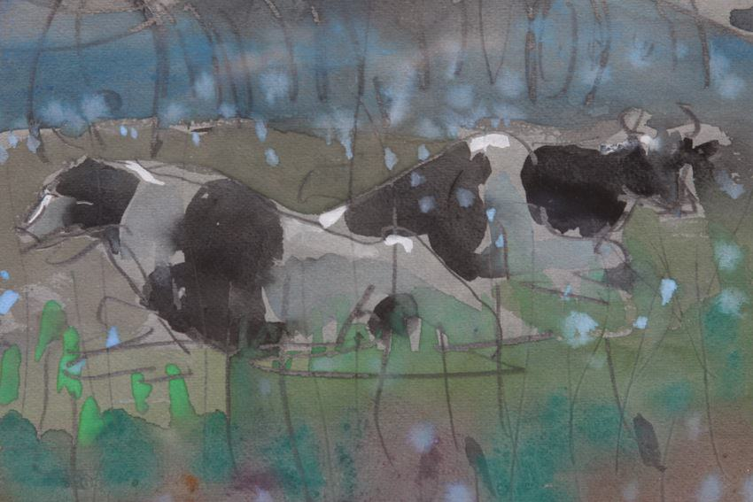 Cows at Pasture II by Joseph Benjamin O'Sickey