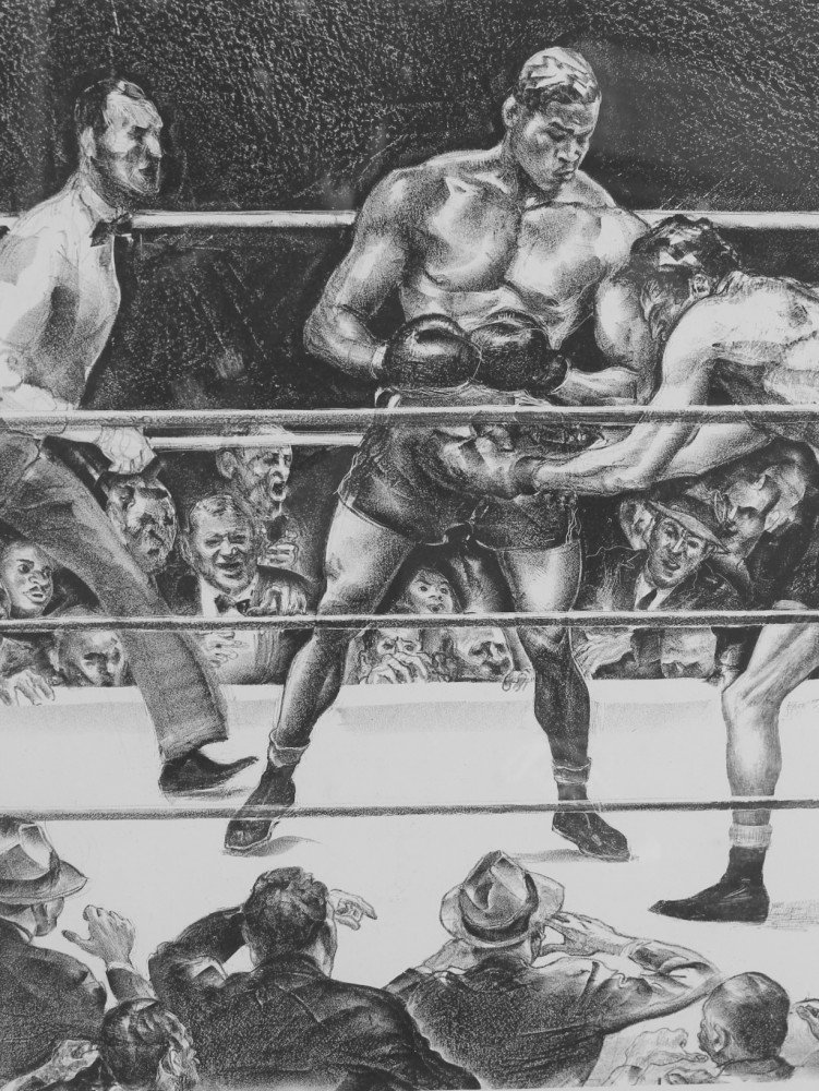 Joe Lewis in a Boxing Match by Joseph Webster Golinken