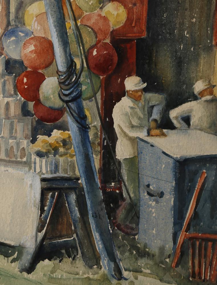Balloon Man in Tent by Kae Dorn Cass