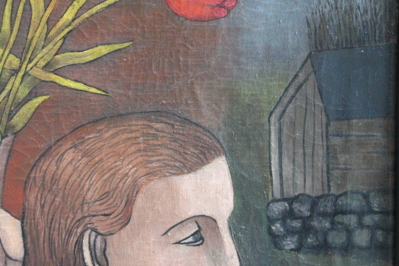Girl with Vase of Tulips by Israel Kantor (called Iskantor)