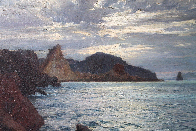 Seascape off Vulcano, Aeolian Islands by Karl Theodor Boehme