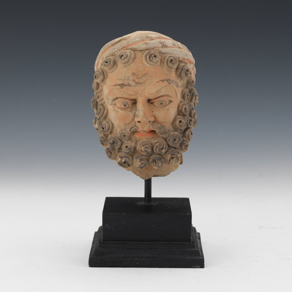 Kashan Terracotta Head of a Bearded Man