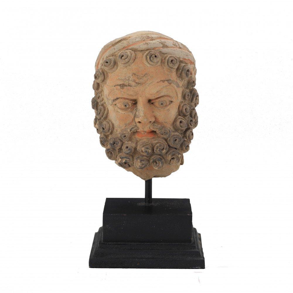 Kashan Terracotta Head of a Bearded Man