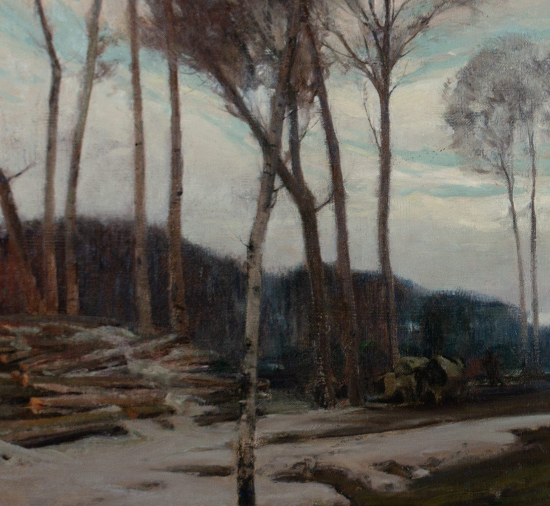 Logging Along the Vermilion River by Henry George Keller