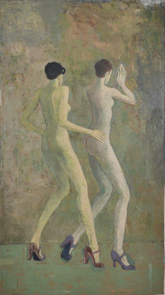 Two Dancing Women by Ken Nevadomi