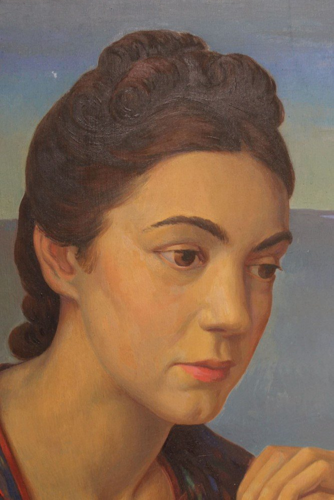 A Portrait of Catherine Vagnoni by Kenneth Stubbs