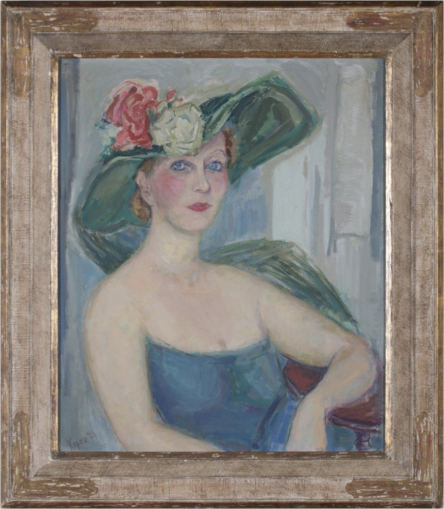 Woman with Floral Hat by Rose Kuper