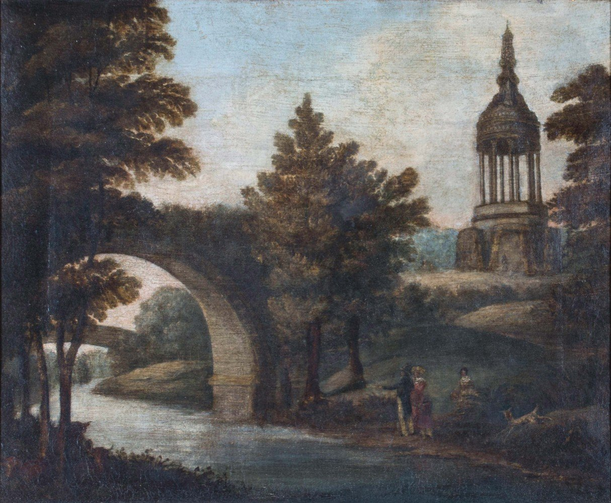 Figures in a Landscape, 18th/19th Century Continental