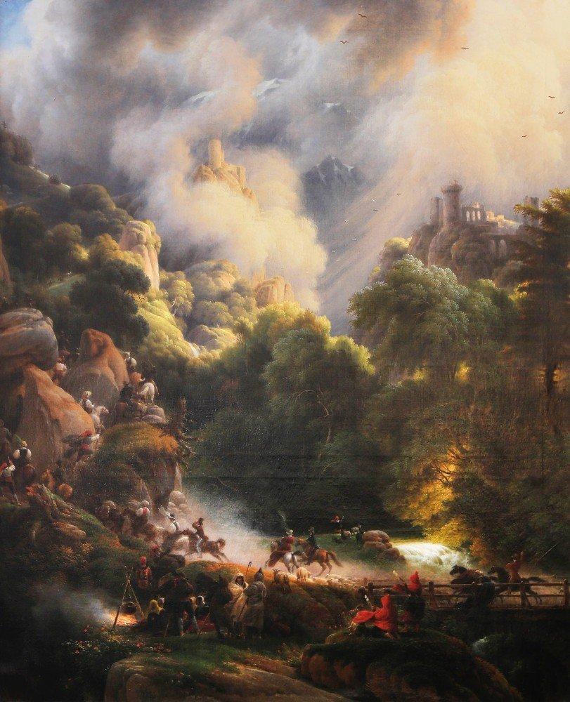 Promenade aux Chateaux de Crac, vers les Sources de la Garonne by Louis François Baron Lejeune
