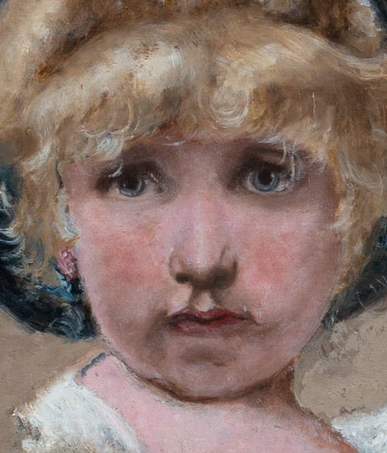 Little Girl with Hat, 19th Century English School