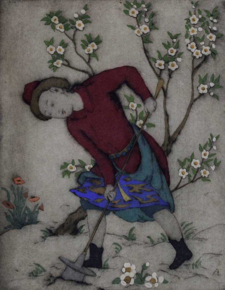 Figure in Garden by Elyse Ashe Lord