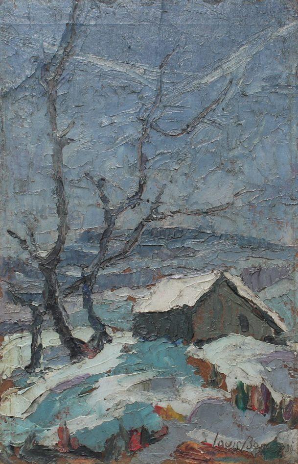 Cabin in Snow, Bucks County, Pennsylvania by Louis Bosa