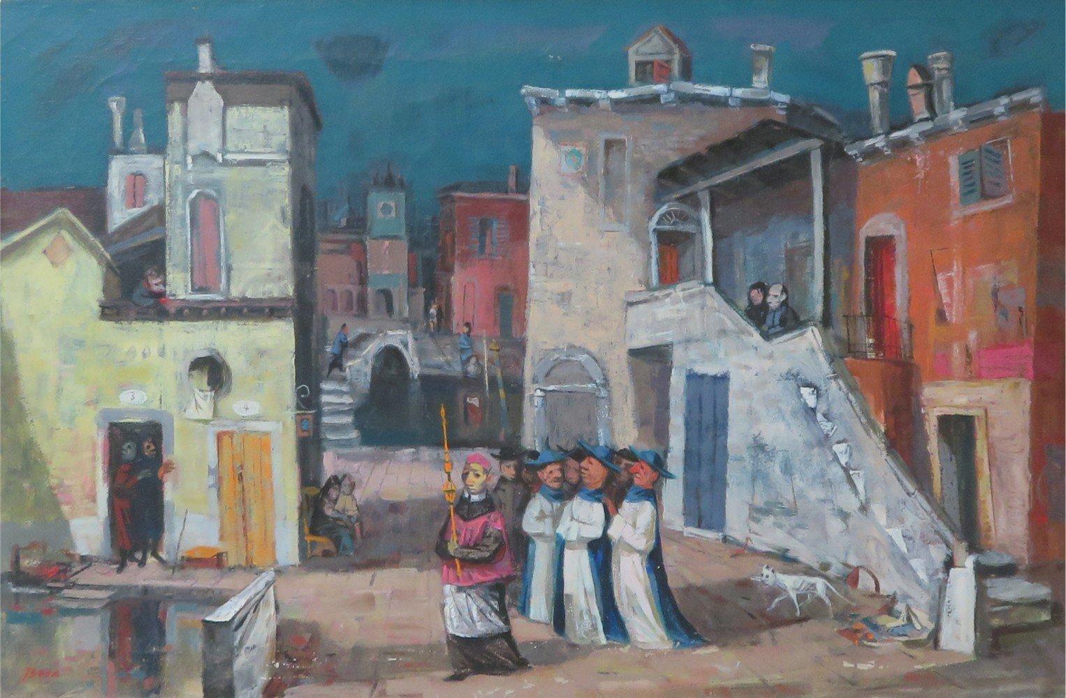 Courtyard in Venice by Louis Bosa