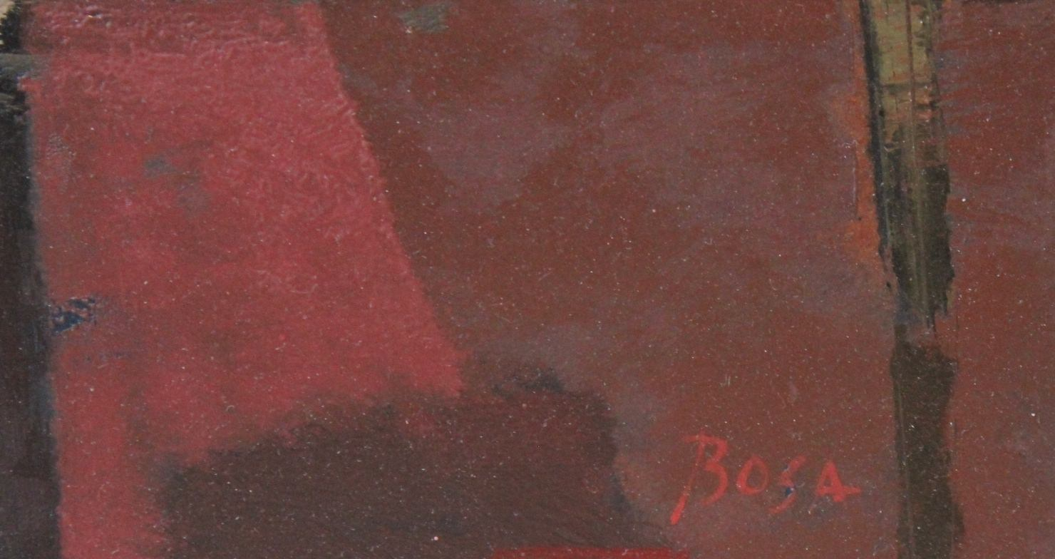 Figurative Landscape Oil on Masonite Painting: