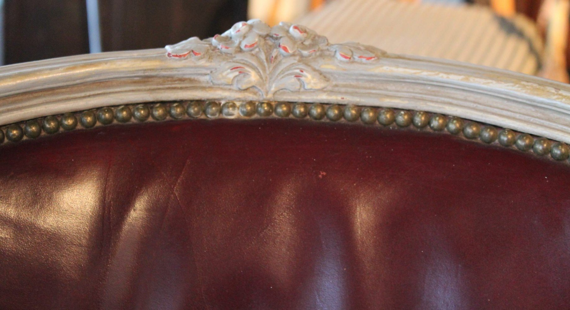 A Louis XVth Style Leather Bergere Chair