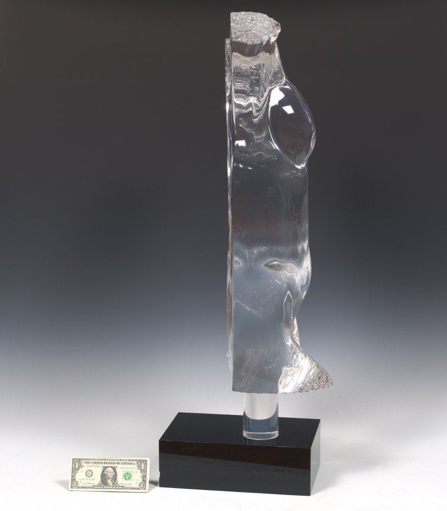 Lucite Nude Female Torso by 20th Century School