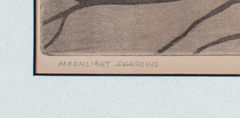 William MacLeod (American 20thc.) Moonlight Shadows