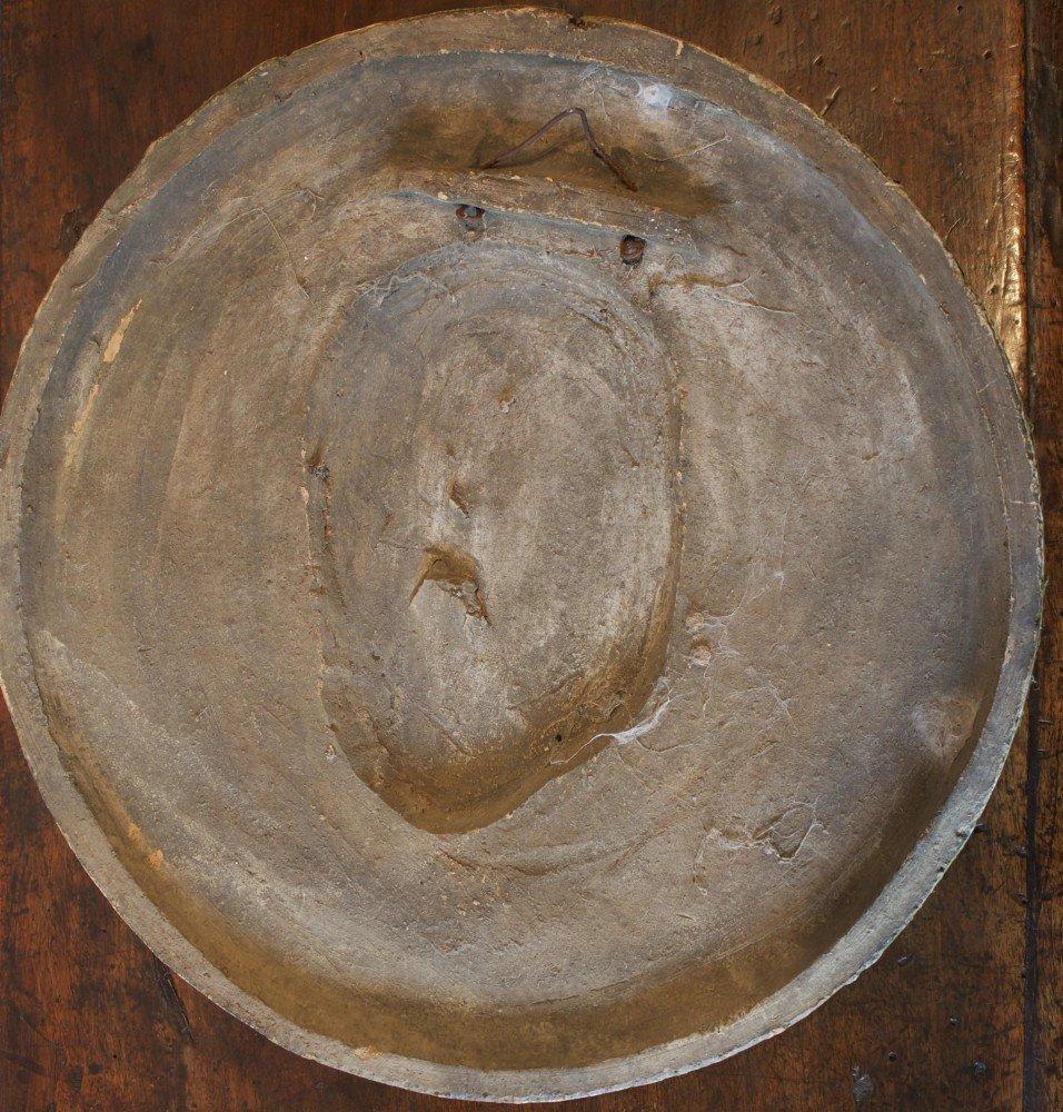 Majolica Roundel Portrait of a Roman Emperor