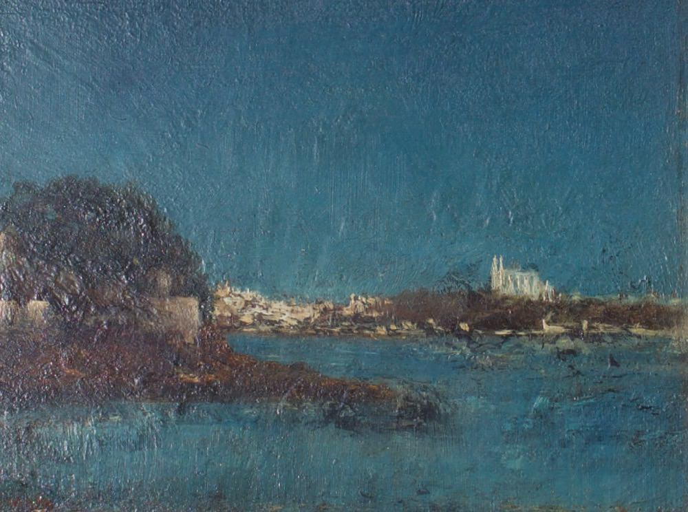 Mallorca with a View of Catedral de la Palma by 19th Century Continental School