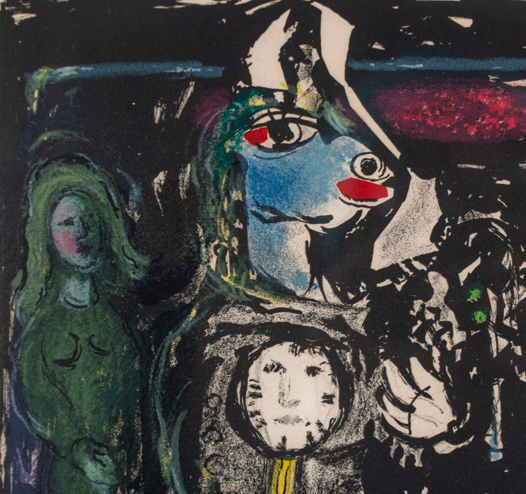 Paysan avec une Horloge by Marc Chagall