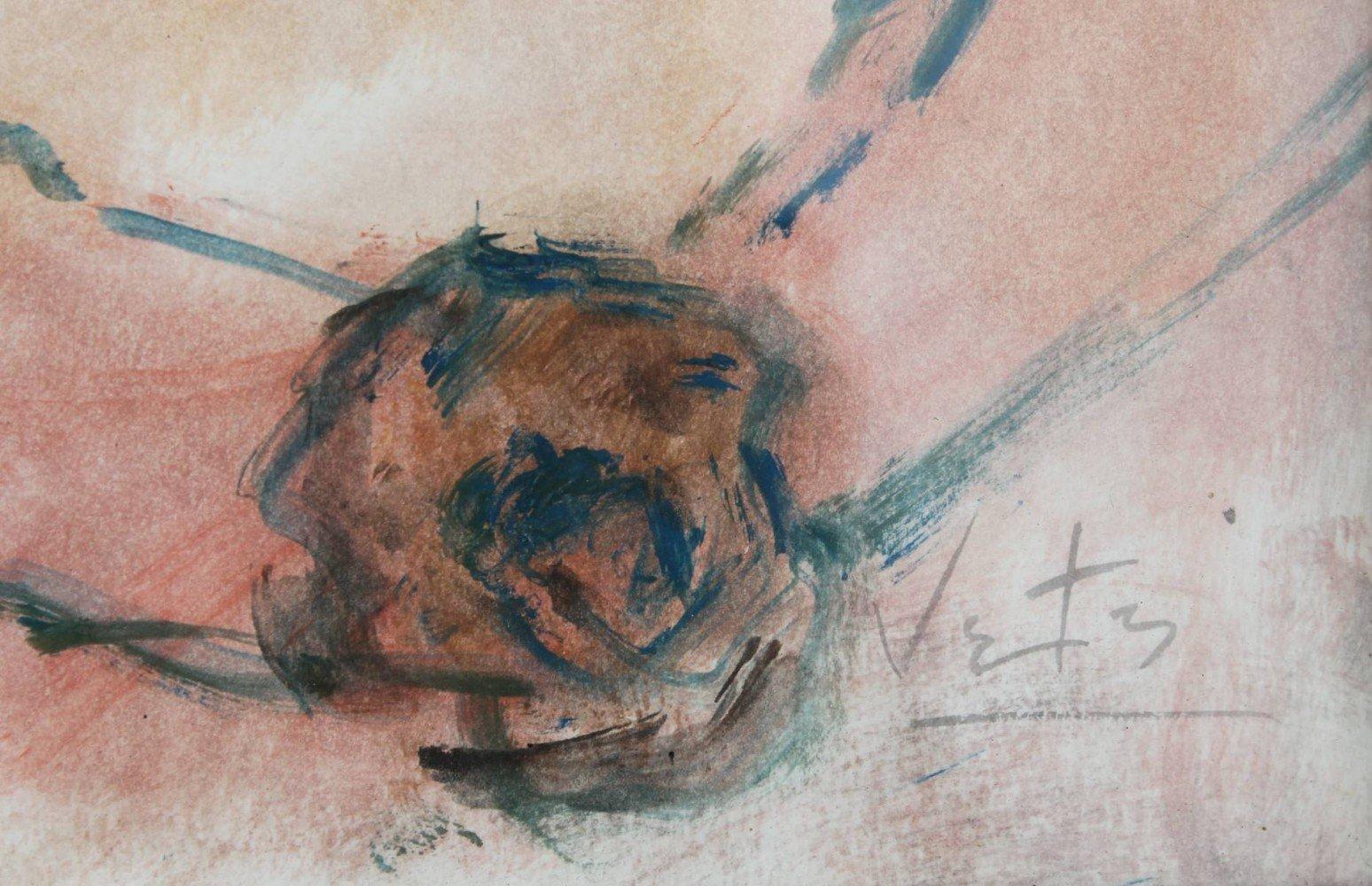 Girl in a Blue Hat by Marcel Vertes