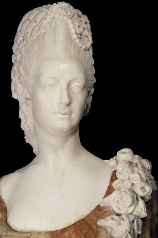 Marble Bust of Marie Antoinette by Simon Louis Boizot