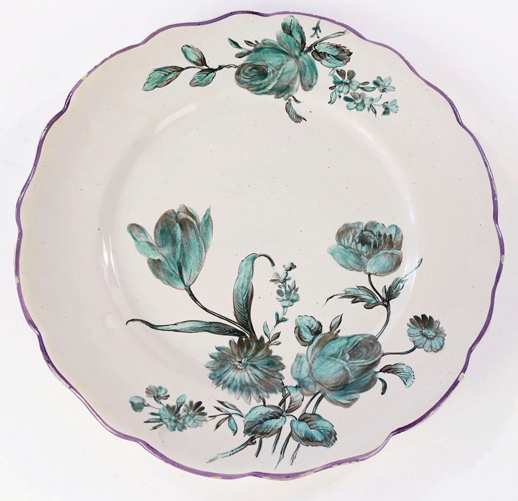 A Marseille Faience Dish by 18th Century French School
