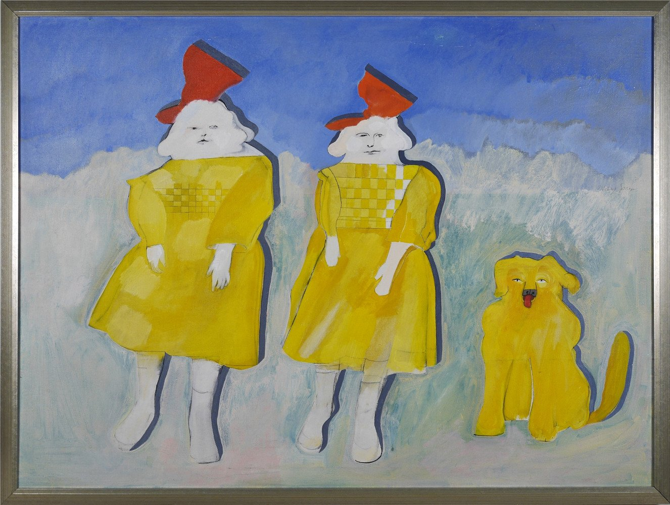 2 Paper Doll Girls by Mary Spain